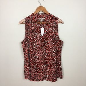 Banana Republic red leopard print blouse, sz 14